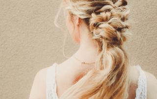 Bridal hair braid by Zinke Hair Studio